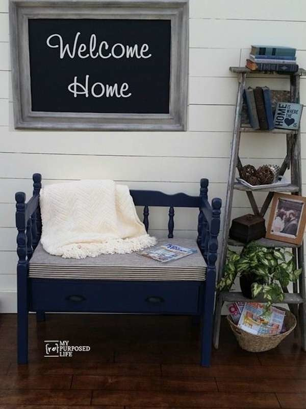 20 Diy Storage Benches You Can Make, Diy Headboard Bench With Storage