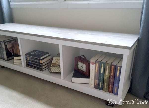 20 Diy Storage Benches You Can Make, Diy Storage Bench File Cabinet