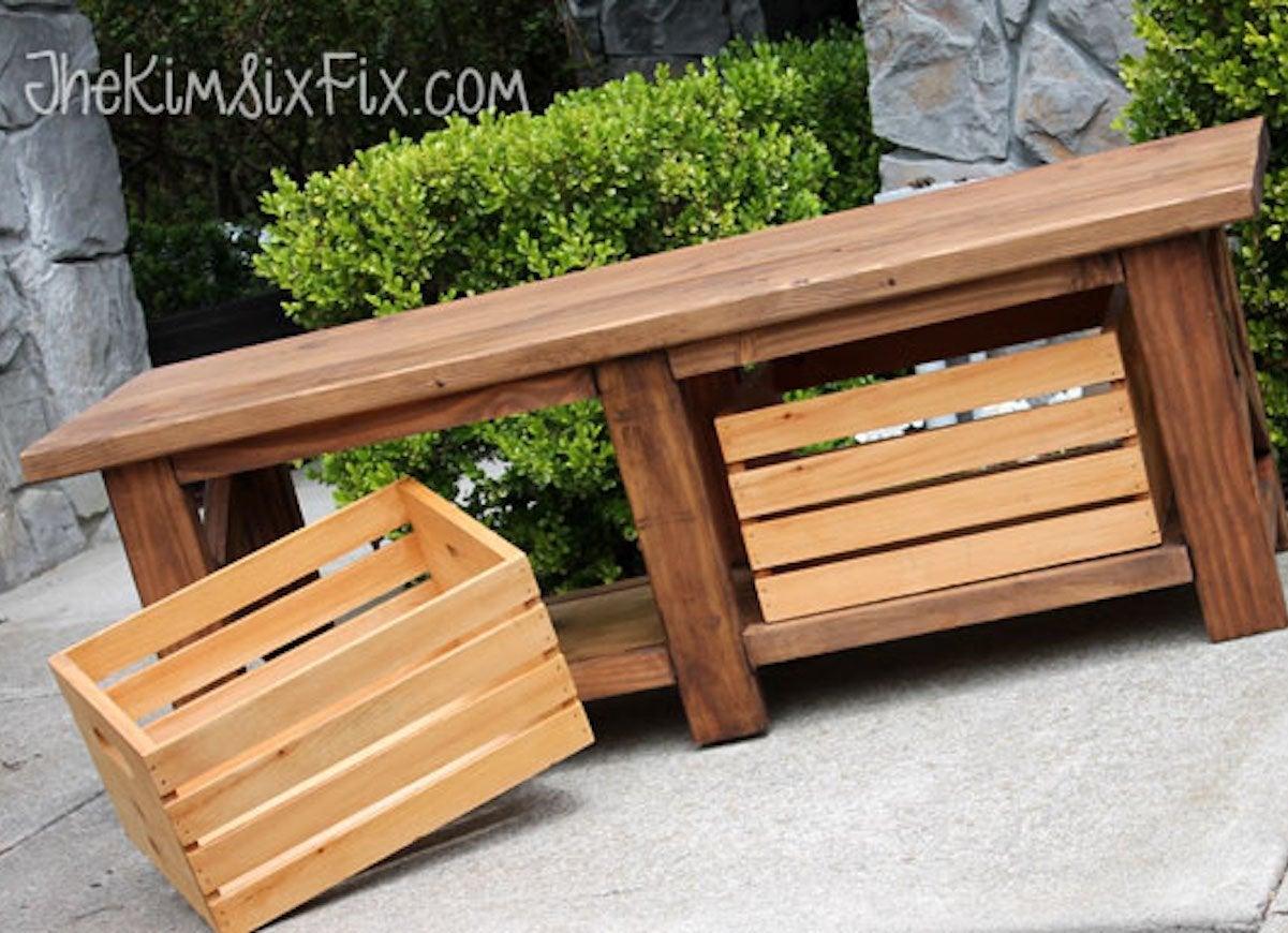 20 Diy Storage Benches You Can Make Bob Vila