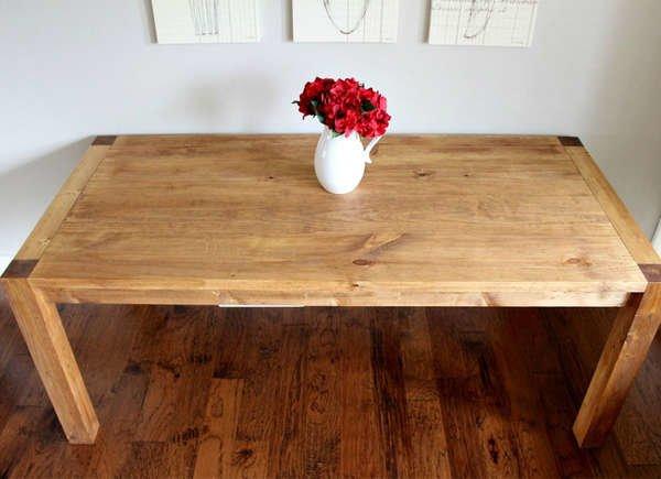 Обеденный стол DIY Modern Farmhouse DIY