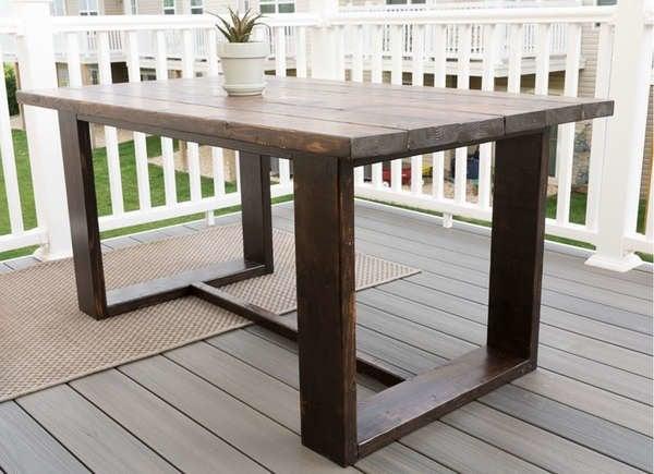 Современный открытый обеденный стол своими руками