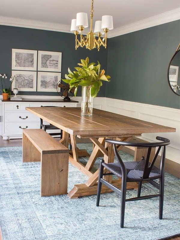 Обеденный стол Сделай Сам современного деревянного дома