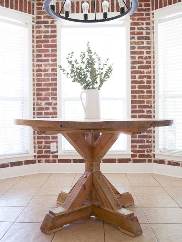 Круглый обеденный стол для дома DIY