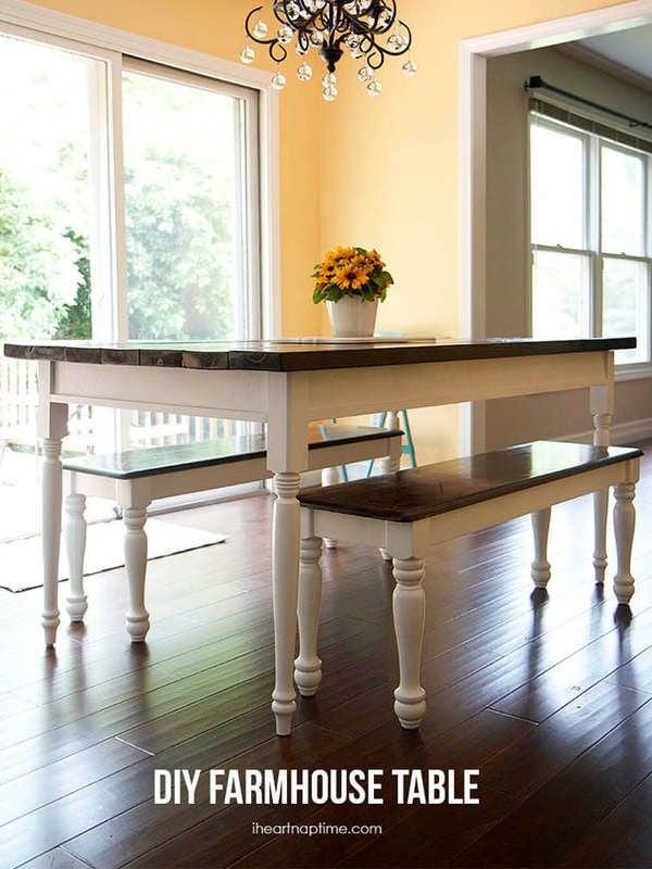 Белый обеденный стол своими руками
