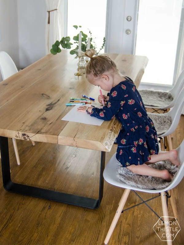 Обеденный стол DIY Live Edge