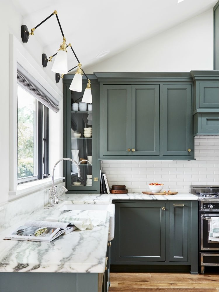 14 Kitchen Cabinet Colors That Feel, Best Gray Green Paint For Kitchen Cabinets