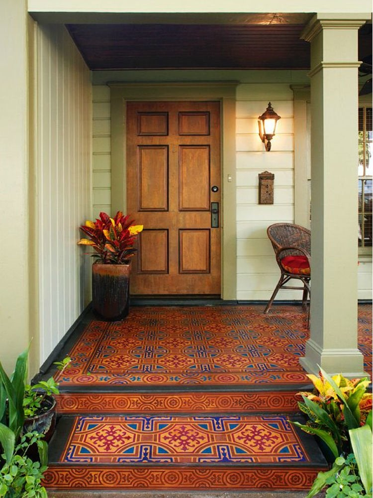 Painted Floors 12 Colorful And Creative Ideas For Wood Tile And Concrete Bob Vila