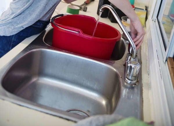 Не очищайте все водой