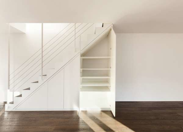 Store Hidden Safes Under the Stairs