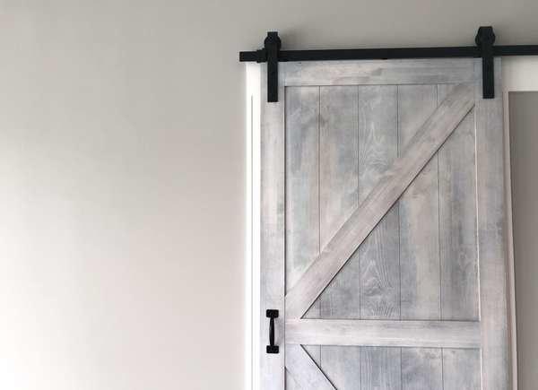 Store Hidden Safes Behind Barn Doors
