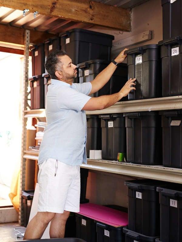 Organizing garage for winter