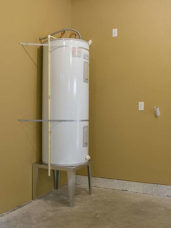 Cover water heater in winter