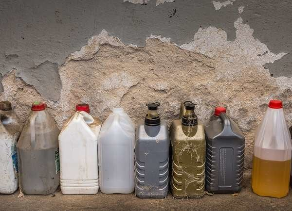 Dispose of chemicals in garage