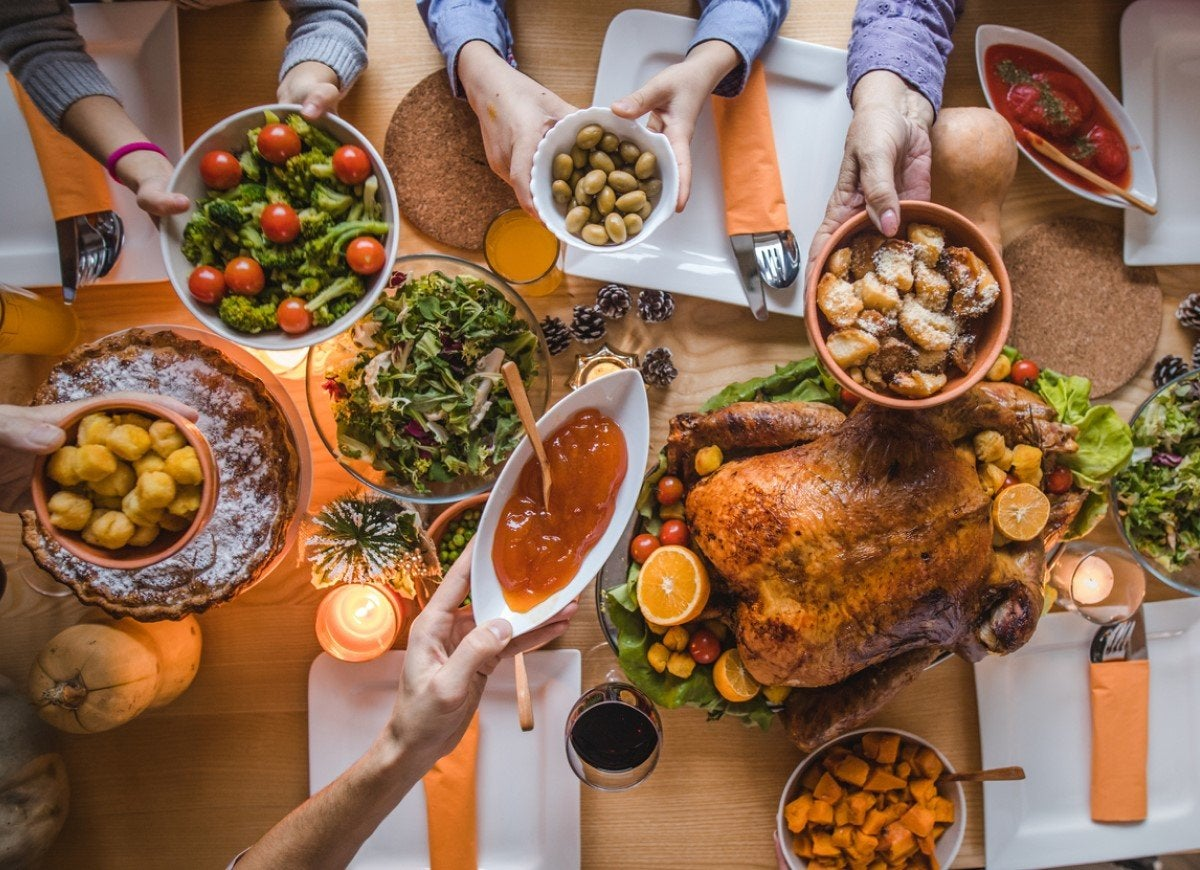 Here's How Much of Each Popular Thanksgiving Food Gets Consumed Each Year
