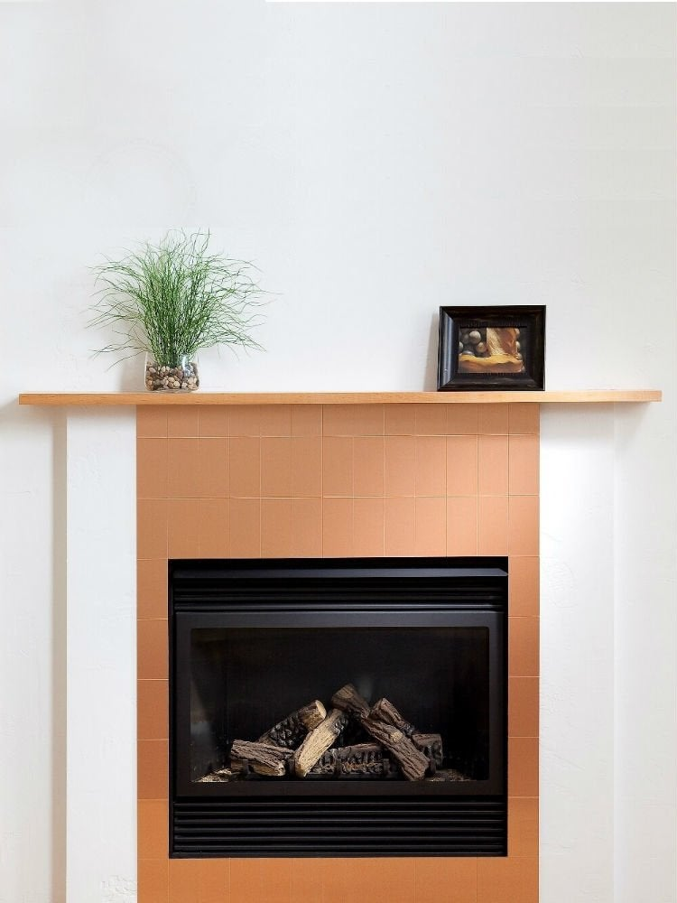 14 Fresh Designs For Tiled Fireplaces, Can You Tile Over Metal Fireplace Surround