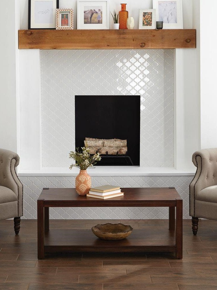 14 Fresh Designs For Tiled Fireplaces, Ceramic Tile Fireplace Wall
