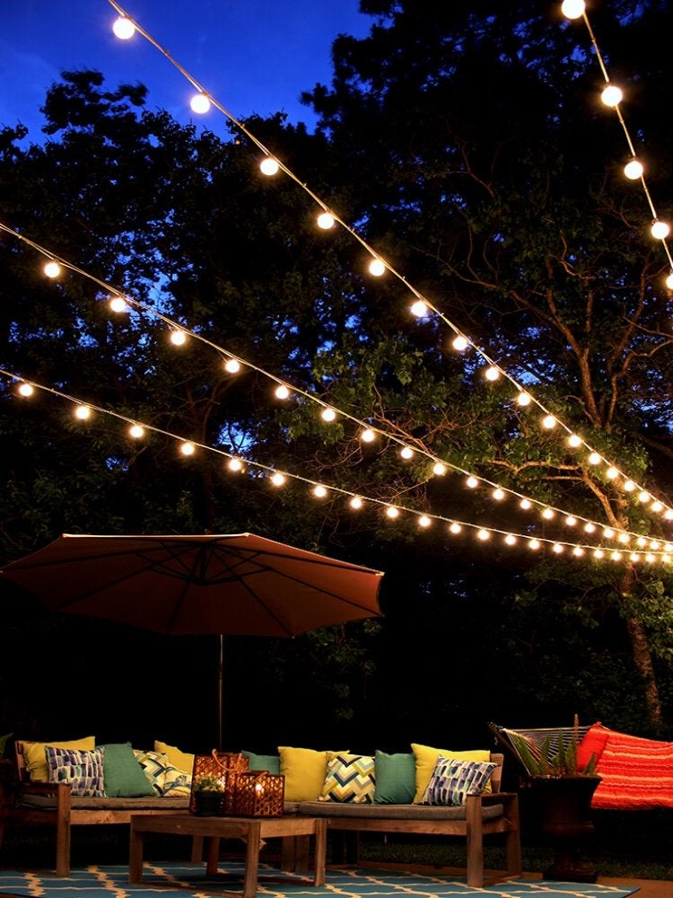 13 Backyard String Light Ideas That Are, How To Do String Lights On Patio