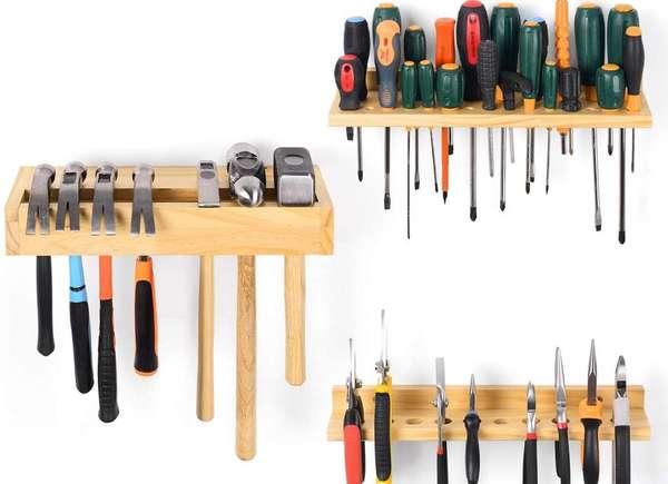 Garaje organizador de herramientas de madera clásico