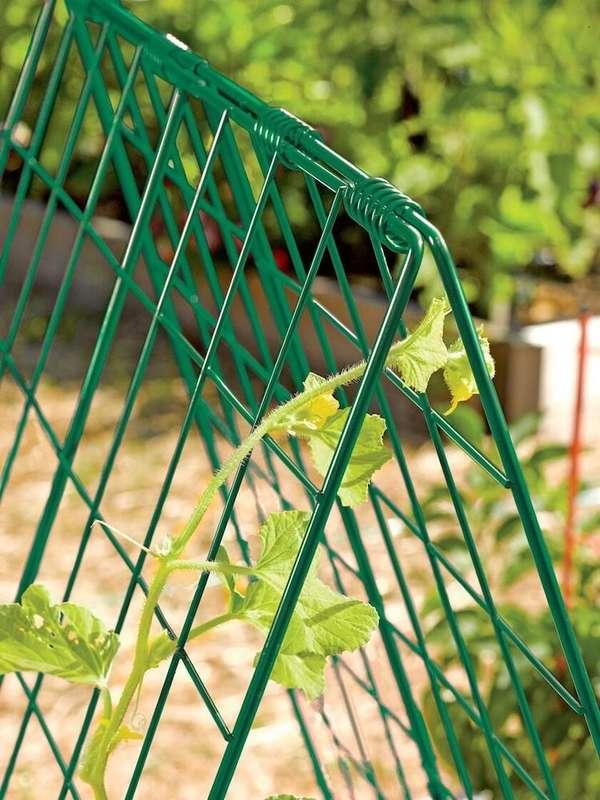 enrejado cama elevada jardín
