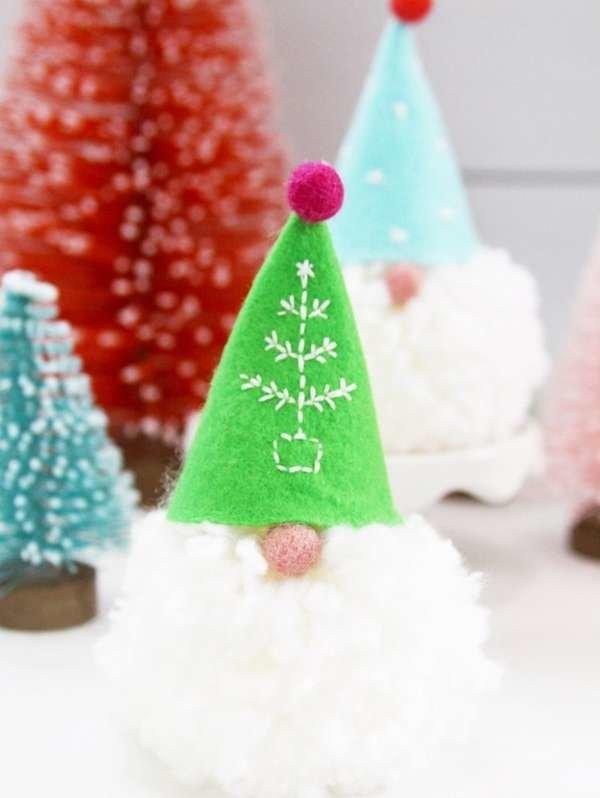 Green and Orange Swirls Handmade Christmas Ornament