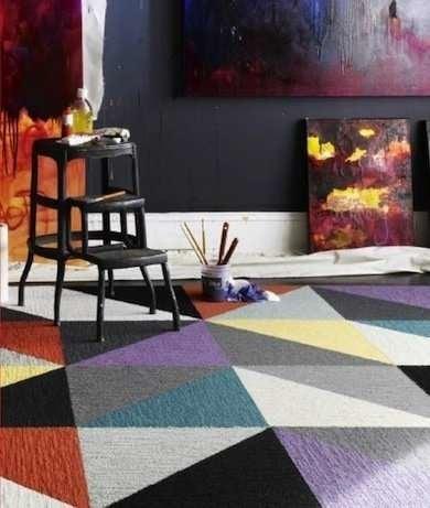 Идеи для дешевых полов - ковровая плитка FLOR