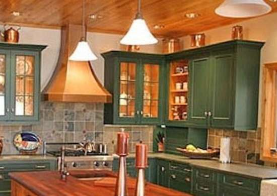 Painted Kitchen Cabinets 14 Reasons, Rustic Green Kitchen Cabinets