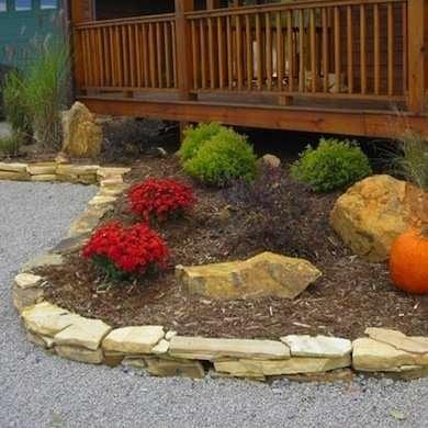Diy Garden Edging Bob Vila, How To Build A Stacked Stone Garden Border