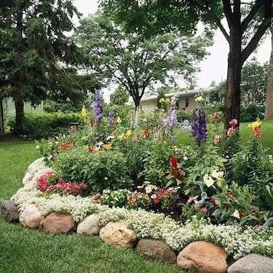 Diy Garden Edging Bob Vila, How To Make Stone Garden Edging