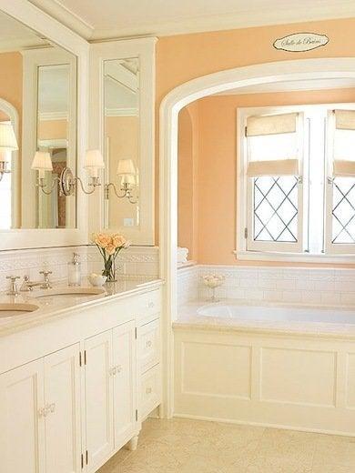 Bathroom Paint Color Ideas 11, What Color Goes With Peach Bathroom